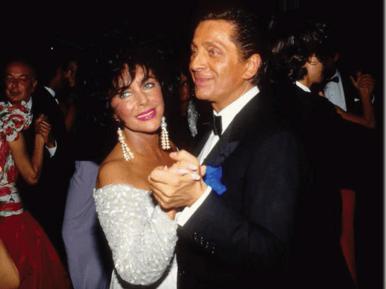 Valentino and Elizabeth Taylor